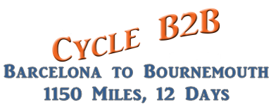 Cycle B2B Barcelona to Bournemouth by Bicycle